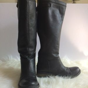 Black Leather Inuovo High boots size 38